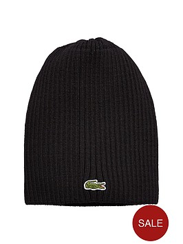 lacoste-ribbed-beanie