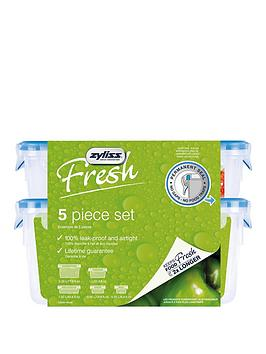 zyliss-zyliss-fresh-5-piece-plastic-leakproof-food-storage-box-set