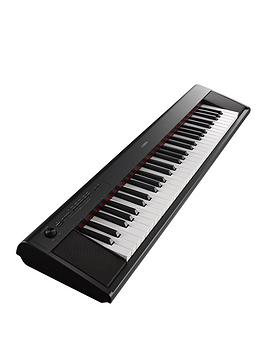 Yamaha Np12 Piaggero Home Keyboard  Black
