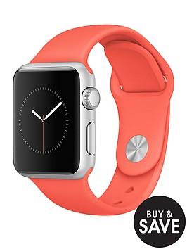 apple-watch-sportnbsp38mm-silver-aluminium-case-with-apricot-sport-band