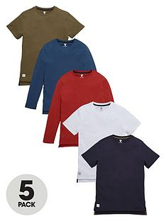 v-by-very-boys-multinbspdrop-hem-t-shirts-5-pack