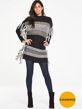 v-by-very-jacquard-knit-tassel-poncho-top
