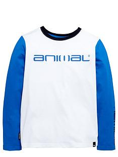 animal-ls-contrast-sleeve-top