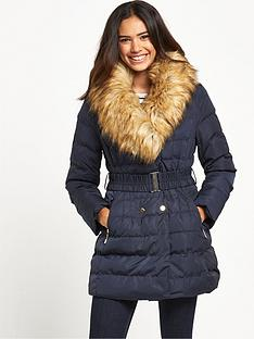 girls-on-film-girls-on-film-belted-puffa-coat-with-faux-fur-trim