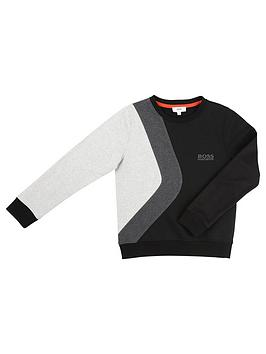 boss-colour-block-sweat-top