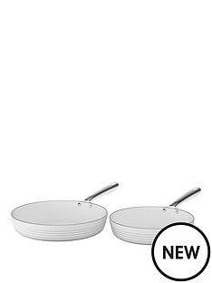 tower-tower-linear-24cm-and-28cm-ceramic-coated-fry-pan-set-white