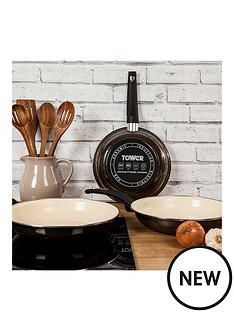 tower-tower-20cm-porcelain-enamel-fry-pan-with-cream-non-stick-coating