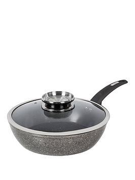 tower-cerastone-28-cm-saute-pan-with-infuser-glass-lid-ndash-black