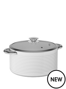 tower-tower-linear-24cm-ceramic-coated-casserole-pan-white