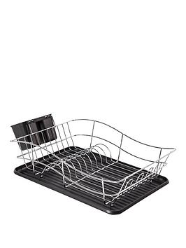 Tower Essentials Chrome Dish Rack With Plastic Tray