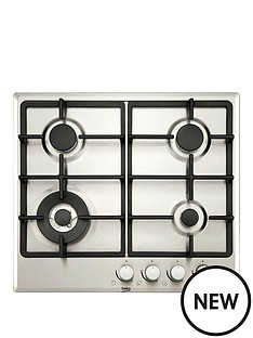 beko-himw64225sx-70cm-built-in-gas-hob-with-optional-connection-stainless-steel