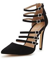 Alyce Strappy Point Shoes - Black