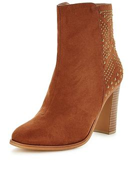 v-by-very-ella-studded-heel-ankle-boots-tan
