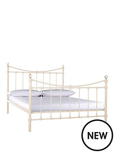 olivia-bed-with-optional-mattress-cream