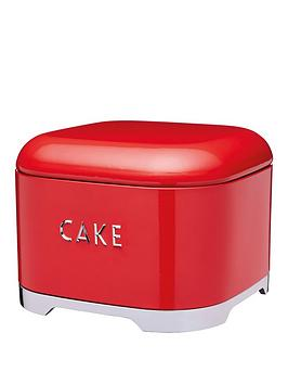 Lovello Cake Tin In Scarlet Red &Ndash 26 X 26 X 20 Cm