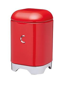 Lovello Coffee Canister In Scarlet Red