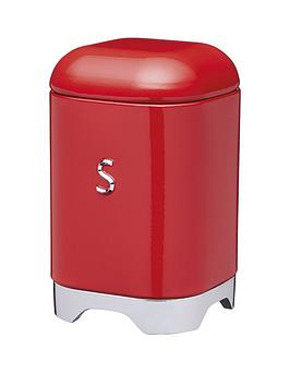 Lovello Sugar Canister In Scarlet Red