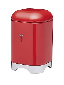 Lovello Tea Canister In Scarlet Red