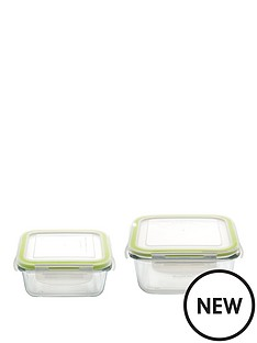 berghoff-studio-glass-set-of-2-square-small-amp-medium-food-containers