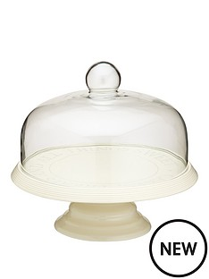 classic-collection-ceramic-29cm-cake-stand-with-domed-glass-lid
