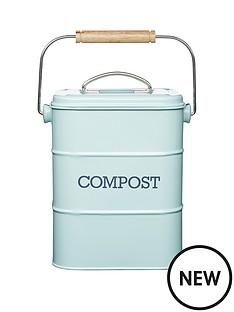 living-nostalgia-3-litre-steel-compost-bin-blue