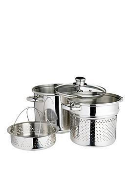 world-of-flavours-italian-20cm-stainless-steel-pasta-pot