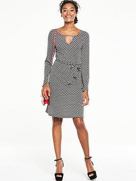 v-by-very-keyhole-neck-tea-dress