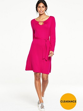 v-by-very-keyhole-neck-tea-dress