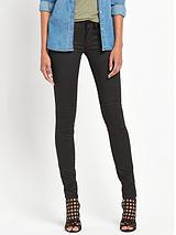 Midge Cody Mid Rise Superstretch Skinny Jean - Distro Black