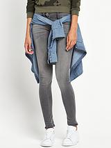 Lynn Zip Mid Rise Superstretch Skinny Jean - Slander Grey