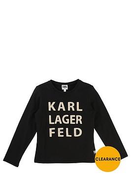 karl-lagerfeld-ls-foil-print-top