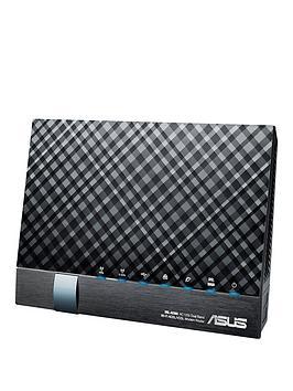 Asus DslAc56U Ac1200 Wireless DualBand VdslAdsl 2 Gigabit Modem Router
