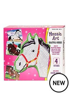 mosiac-art-beautiful-horses