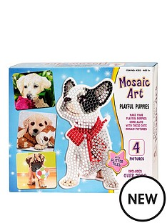 mosaic-art-playful-puppies