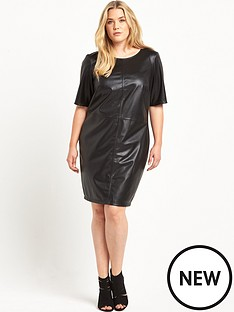 junarose-pu-fitted-dress