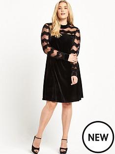 junarose-high-neck-velvet-dress-black