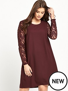 junarose-lace-sleeve-shift-dress
