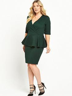 junarose-peplum-dress-green
