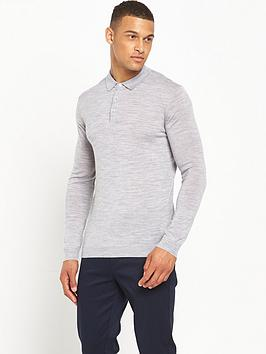 minimum-jaylen-knitted-long-sleeve-polo-top