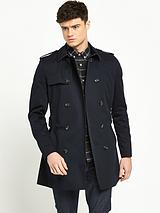 Double Breasted Military Trench Coat