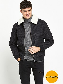 river-island-checked-borg-collar-jacket