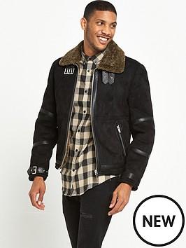 river-island-shearling-suedette-flight-jacket