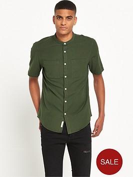 river-island-textured-grandad-collar-shirt
