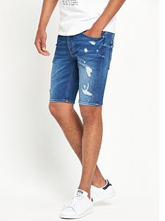 river-island-distressed-slim-fit-denim-shorts