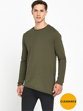 river-island-asymmetric-long-sleeve-zip-side-t-shirt