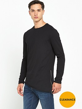 river-island-asymmetric-long-sleeve-zip-side-mens-t-shirt