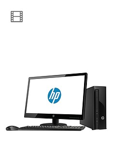 hp-slimline-411-a000na-intelreg-celeronreg-4gb-ram-1tb-hard-drive-215in-desktop-bundle-with-optional-microsoft-office-365-black