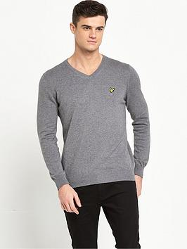 lyle-scott-merino-v-neck-jumper