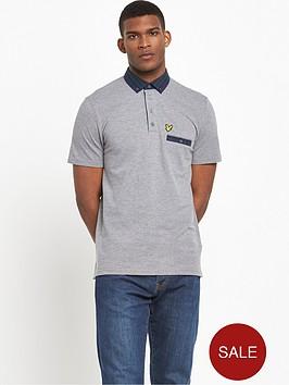lyle-scott-check-woven-collar-polo