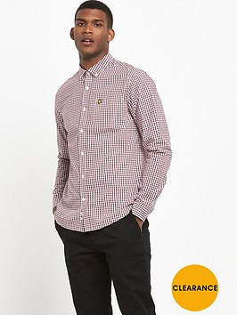 lyle-scott-gingham-check-shirt